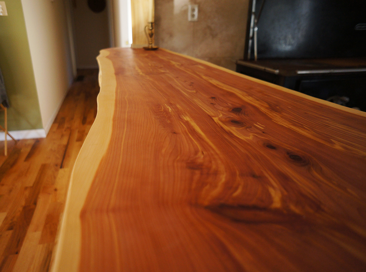 Check Out This Diy Live Edge Wood Countertop The Year Of Mud